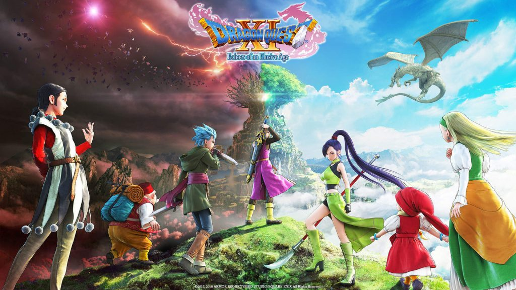 Dragon Quest XI cover art. Also a link to the Dragon Quest vocabulary list.