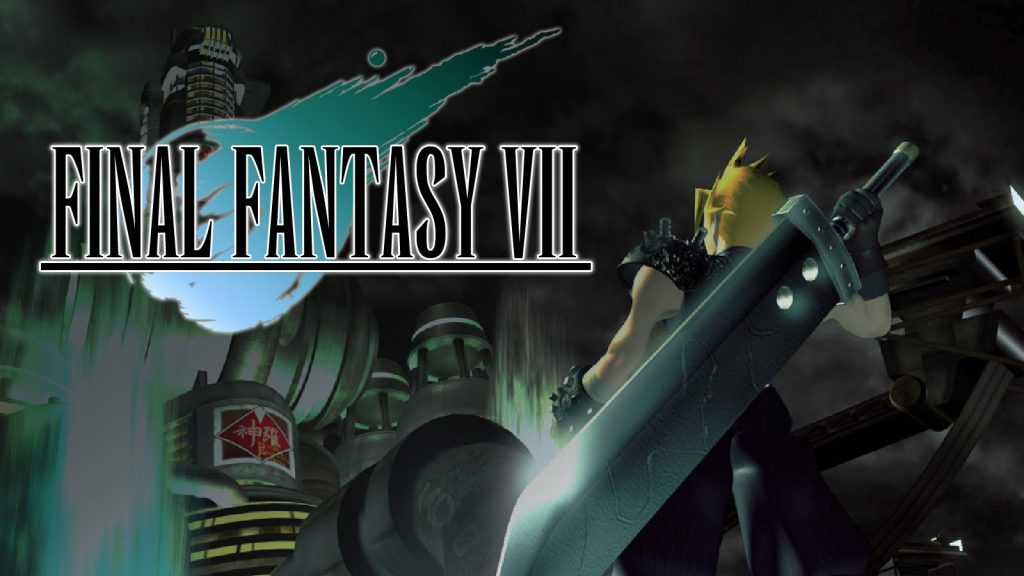 Final Fantasy VII cover art. Also a link to the Final Fantasy vocabulary list.